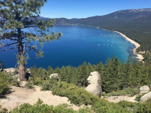 Monkey Rock, overlooking Crystal Bay at Lake Tahoe.